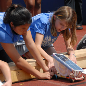 Students working on Junior Solar Sprint project