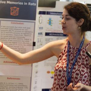 JSHS student making presentation